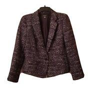 Ann Taylor Black/Brown Blazer Jacket Petite  Size 10P