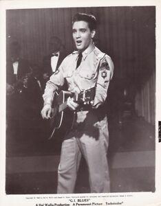 ELVIS PRESLEY Guitar Singing ORIGINAL Vintage G I BLUES Paramount Portrait Photo