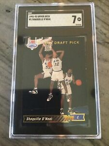 1992-93 Shaquille O'Neal #1 Draft apick SGC 7