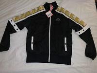 Black And Gold Kappa Jacket Retro Size Medium