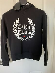 "DSQUARED2 Kids ""Caten Twins"" Hoodie Black 14YR Boys Or Girls Unisex Rrp £185"