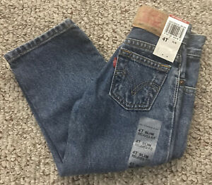 NWT Levi's 550 Boys Toddler 4T Slim Relaxed Fit Blue Jeans