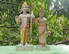 Ram Sita Déesse Dieu Hindou 2 Statues en Marbre 14,6 kilos total Fait main Inde