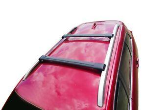 Alloy Roof Rack Cross Bar for Renault Koleos 2008-16 H45 Lockable Matt Black