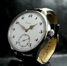 Luxury Mens Gift Antique 1927 Chronometer Large Stainless Steel Watch Porcelain