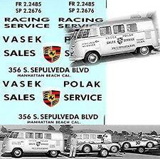 VW T1 Porsche Racing Transporter 50´ties Vasek Polak 1:18 Decal Abziehbild