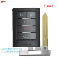 Smart Remote Key Fob 5 Button for Cadillac CTS STS 2008-2014 FCC ID: M3N5WY7777A