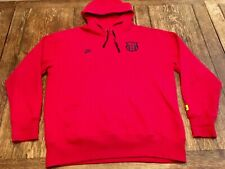 FCB Barcelona Soccer Club mens XL NIKE red hooded sweatshirt Hoodie Futbol FC !!