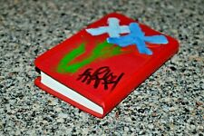 Original Kevin Charles Pro Hart Painted New Testament Bible Cover Abstract