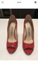 Authentic Red Jimmy Choo Wedges 37.7 / 4.5