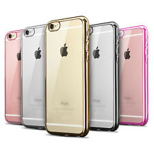 Premium Plating Silicone Metal Bumper Clear Case Cover for Apple iPhone 5s SE 5