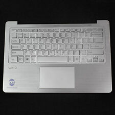 Silver Backlit Keyboard Palmrest US With Touchpad For SONY VAIO Fit 13A SVF13N