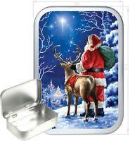 Silent Night Gift Box,150ml Silver Hinged Tin,Tobacco Tin, Storage Tin