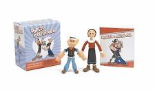 NEW Popeye and Olive Oyl: Collectible Bendable Figurines Toys 32pp Novelty Book