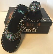 Montana West Flip Flops Summer Sandals Western Wedge Thong Cowgirl Slipper Shoes