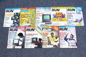 Vintage 1990 RUN Commodore Computer Magazine Lot of 9 Near Full Year C64 C128