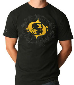 PISCES STAR SIGN with ZODIAC MOON T shirt by VKG