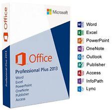 Microsoft OFFICE 2013 PROFESSIONAL PRO PLUS 32 / 64 Bit codice di licenza rottami PC