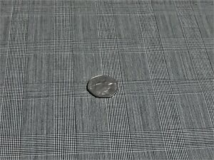 FINE ENGLISH WOOL PRINCE OF WALES  CHECK-BLACK/WHITE-SUITING FABRIC -FREE P+P