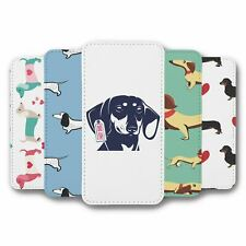 For iPhone 5C Flip Case Cover Dachshund Collection 2