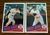1985 Topps Set Break #350 Wade Boggs and #580 Wight Evans - Red Sox