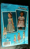 SIMPLICITY 2460 PROJECT RUNWAY TODDLER DRESS PATTERN SIZE 1/2 1 2 3  uncut