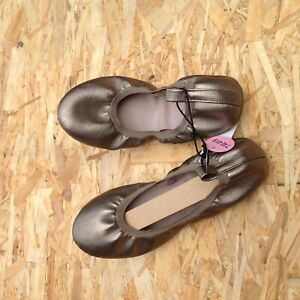 SHOES Ladies Size UK 7 Brand New with Tags Ballerina Style Gold (not shiny)