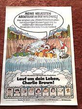 Lauf um dein Leben Charlie Brown Kinoplakat Poster A1, Peanuts, EA 1977, Snoopy