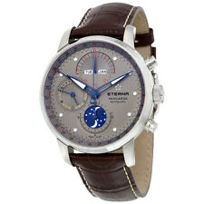 Eterna Swiss Chronograph Moonphase Automatic Leather Strap Watch 2949.41.16.1260