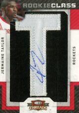 2009-10 Panini Threads Houston Rockets Basketball Card #140 Jermaine Taylor