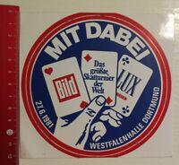 Aufkleber/Sticker: Skatturnier 1981 Westfalenhalle Dortmund (19041777)