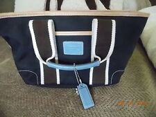 Used Authentic COACH Mini Hampton Weekend Tote Handbag No B05M–6268