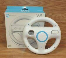Wii White Steering Racing Wheel for Mario Kart Racing Game Remote Controller OEM