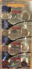 8 Maxell Hologram LR44 A76 L1154 AG13 357 303 Button Cell Batteries-USA SELLER