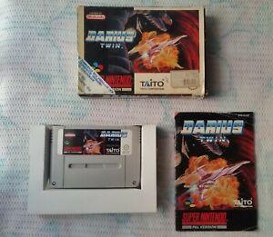 Super Nintendo SNES DARIUS TWIN Complete - Working ! PAL - ESP Version !