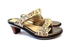 Aravon Angela New Balance Comfort Slides Sandals Snake Skin Print  Womens 10B