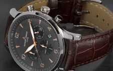 Jacques Lemans Uhr Herren - Chronograph Quarz mit Lederarmband