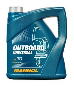 MANNOL 4L Outboard Universal Two-stroke Oil  API TC NMMA TC-W2