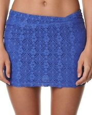 $45 NEW VOLCOM JUNIORS BLUE LACED WAVE SKIRT SIZE 5 code P36