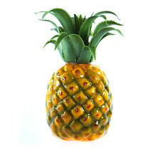 Artificial Medium Pineapple 7-in Plastic Decorative Fruit Yellow Pineapples Fake