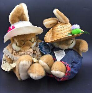 """Non Non Bunny Rabbit Grandma & Grandpa McThistle 12"""" Soft Toy Gemini Bundle -Tag"""