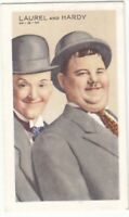 1935 Gallaher Cigarettes~LAUREL & HARDY~Stars of Screen & Stage~Tobacco Card #9