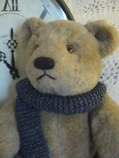 """VINTAGE COLLECTIBLE OLD BEAR by """"GUND""""...wearing his hand knitted SCARF!!!"""