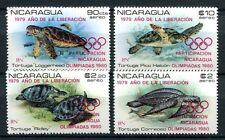 NICARAGUA 1980 Olympiade Olympics Schildkröten Turtles 2099-2102 ** MNH