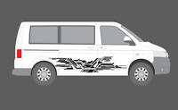 Fits Volkswagen Transporter caravelle T5 T6 Side panel Flag Future Decal Graphic