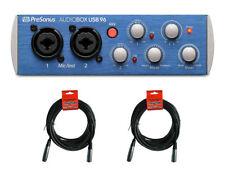 PreSonus AUDIOBOX USB 96 2x2 USB Audio Interface AUDIOBOXUSB96 + Mic Cables