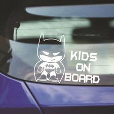 """Batman """"Enfant à bord"""" Autocollant Vinyle Auto Adhésif pour pare-chocs Blanc"""