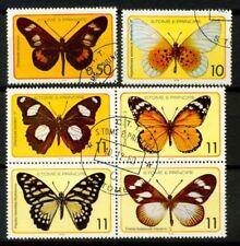 Saint Thomas et îles du Prince 1979 SG Z19 Oblitéré 100% papillons