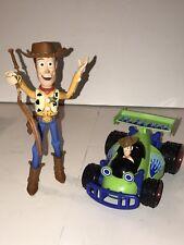 Disney Pixar Toy Story 3 Shake N Go Woody & RC Talking Sounds Car + Woody Figure