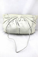 Vintage Margulm Dove Gray Stone Soft Leather Oversized Clutch Convertible Bag